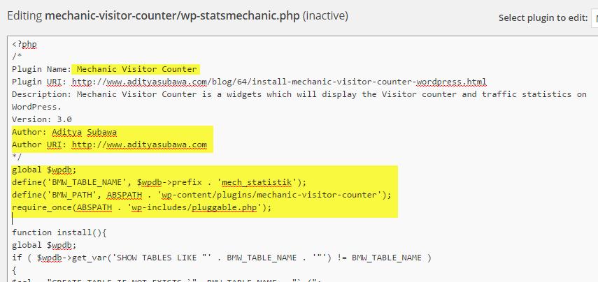 WordPress Plugin: My Visitor Counter Contain Suspicious Links | the atmojo